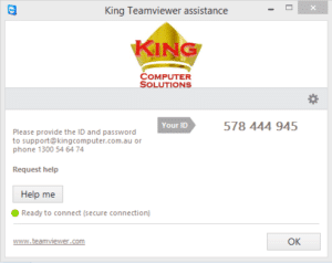 Teamviewer PC Installation – King Computer Solutions – IT Consulting